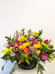 Stylish Spring Basket Arrangement