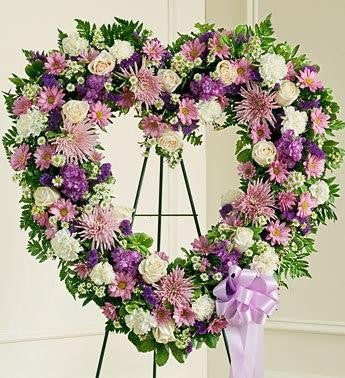 Always Remember Heart Tribute - Lavender - Beaudry Flowers