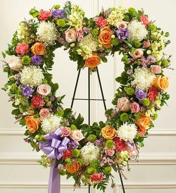 Always Remember Heart Tribute - Pastel - Beaudry Flowers