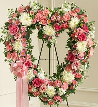 Always Remember Heart Tribute - Pink - Beaudry Flowers