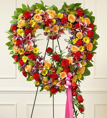 Always Remember Heart Tribute – Multicolor - Beaudry Flowers