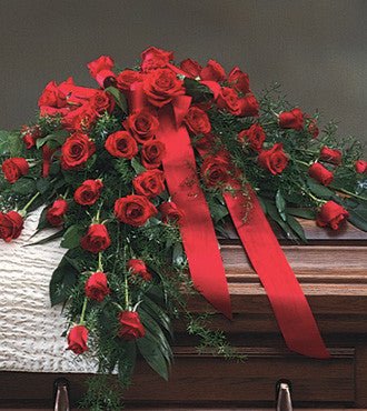 Casket Spray Red Roses