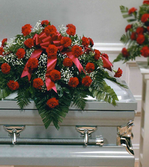 Deepest Emotions Casket Spray - Red - Beaudry Flowers