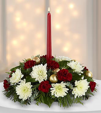 Light & Love Holiday Centerpiece - Beaudry Flowers