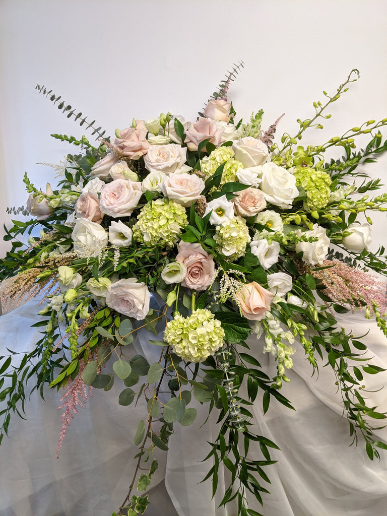 Large Pastel Waterfall Arrangement