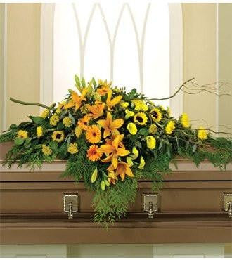 Natures Glory Casket Spray - Beaudry Flowers