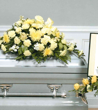 Deepest Emotions Casket Spray- Yellow - Beaudry Flowers