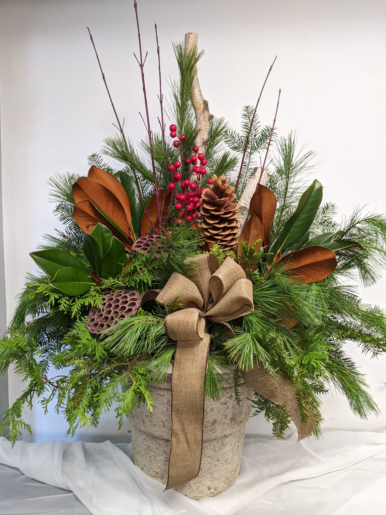 Natural Holiday Planter Insert (Pot not included)