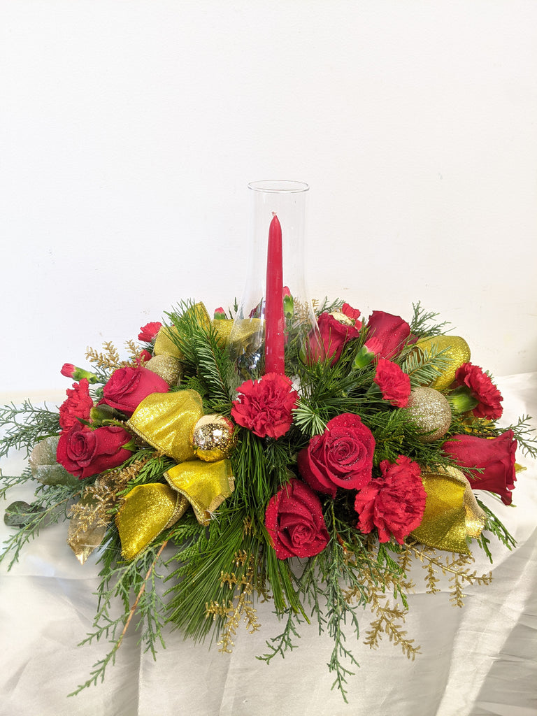 Golden Rouge Hurricane Centrepiece