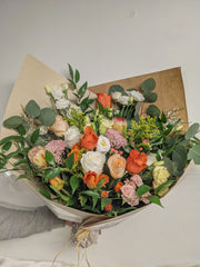Peaches & Orange Hand-tied Bouquet
