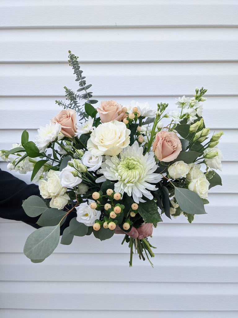 Soft & Neutral Hand-Tied Bouquet