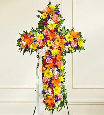 Peace and Prayers Standing Cross – Multicolor - Beaudry Flowers