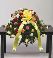 Peaceful Sunshine Casket Spray - Beaudry Flowers