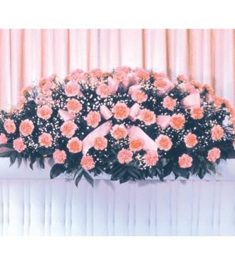 Pink Carnation Casket Spray - Beaudry Flowers