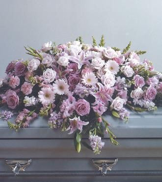 Pink Casket Spray - Beaudry Flowers