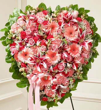 Pink Flower Heart - Beaudry Flowers