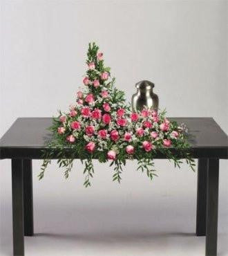 Pink Luminance Urn Tribute - Beaudry Flowers
