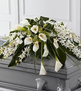 The FTD Angel Wings  Casket Spray - Beaudry Flowers