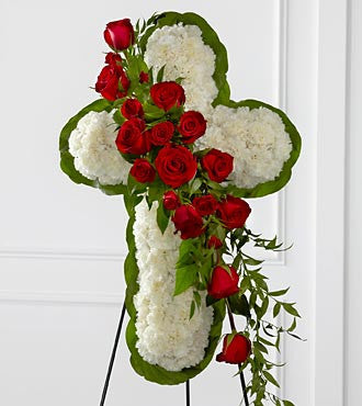 The FTD Floral Cross Easel - Beaudry Flowers
