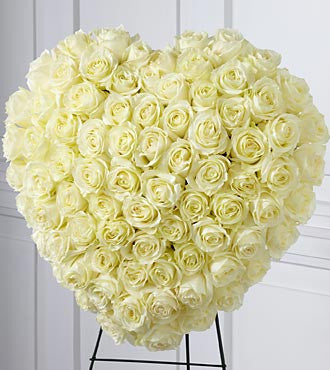The FTD® Elegant Remembrance™ Standing Heart - Beaudry Flowers