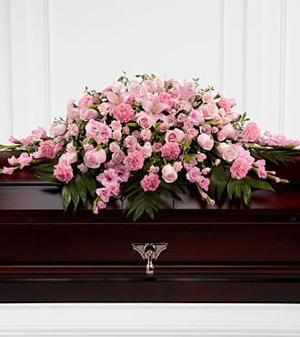 The FTD® Sweetly Rest™ Casket Spray - Beaudry Flowers