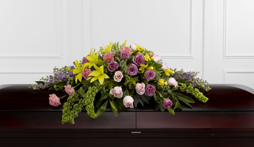The FTD Forever Beloved Casket Spray (S36-4521) - Beaudry Flowers