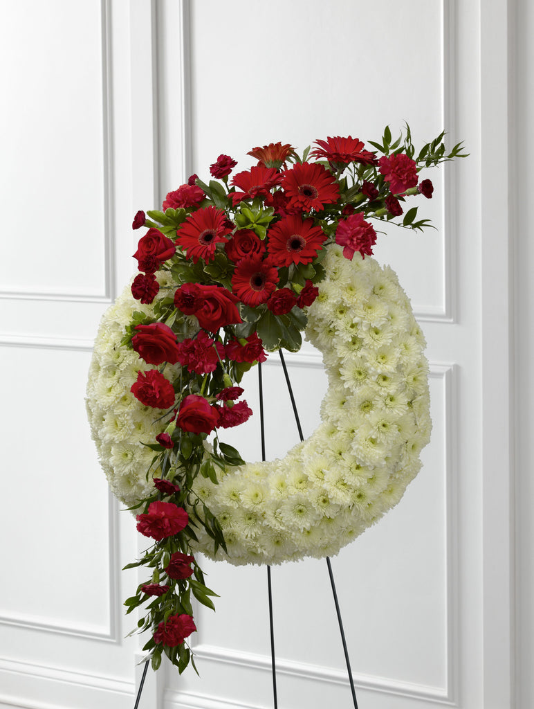 The FTD Graceful Tribute Wreath (S44-4542)