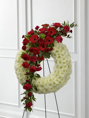 The FTD Graceful Tribute Wreath (S44-4542) - Beaudry Flowers