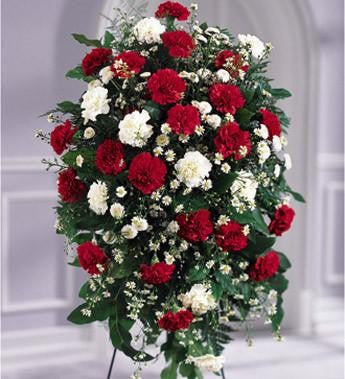 The FTD Crimson White Standing Spray - Beaudry Flowers