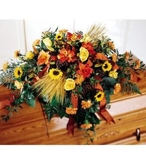 The FTD Vibrant Casket Spray - Beaudry Flowers