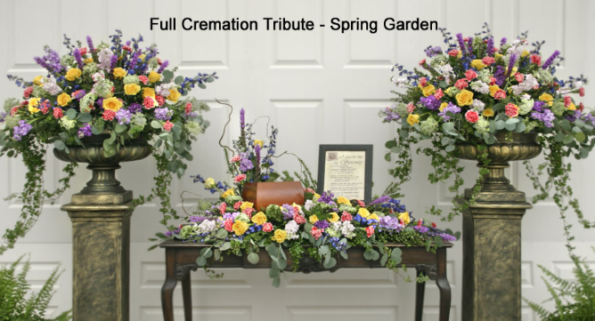 The Full Cremation Tribute – Spring Garden - Beaudry Flowers