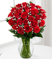 Red 12 Short Rose Bouquet - Beaudry Flowers
