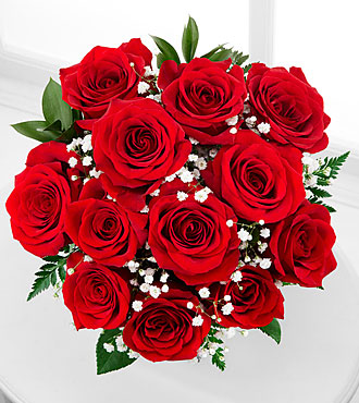 Red 12 Short Rose Bouquet