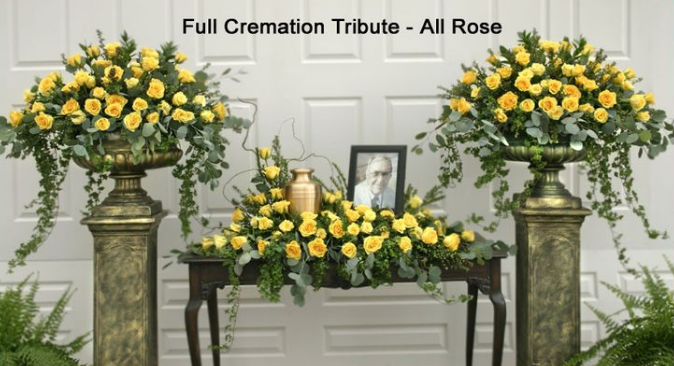 The Full Cremation Tribute – All Rose - Beaudry Flowers