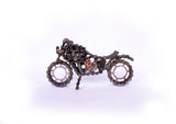 Motorcycle Small - Motorcycle sculpture, made of bicycle chains