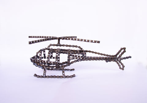 Hellicopter - Hellicopter sculpture, made of bicycle chains