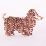 Princess Mini - Dog sculpture, made of bicycle chains