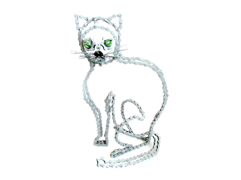 Garfi - Cat sculpture, made of bicycle chains