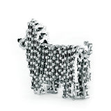 Mini Princess - Dog sculpture, made of bicycle chains