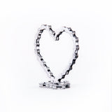 Heart - Heart sculpture, made of bicycle chains