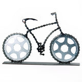 Lance 2 - Bicycle sculpture, made of bicycle chains