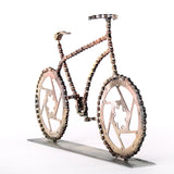 Lance 3 - Bicycle sculpture, made of bicycle chains