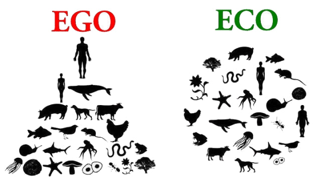 Eco over Ego.  We are part of nature.