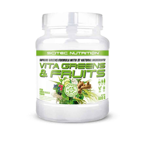 Scitec Nutrition Vita Greens & Fruit 600g pear lemon grass