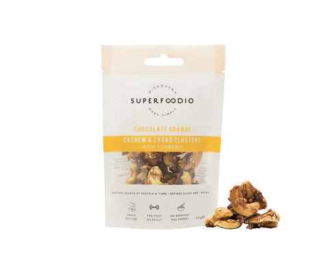 SuperFoodio Cashew & Cacao Clusters Chocolate Orange