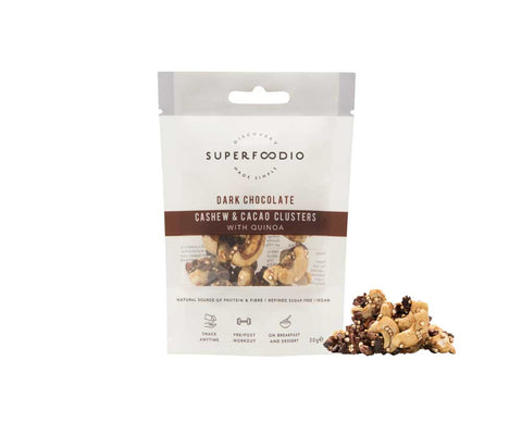 SuperFoodio Cashew & Cacao Clusters Dark Chocolate