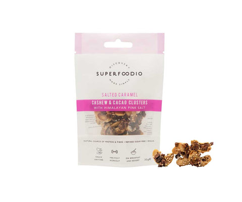 SuperFoodio Cashew & Cacao Clusters Salted Caramel