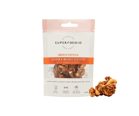 SuperFoodio Cashew & Walnut Cluster Smoked paprika