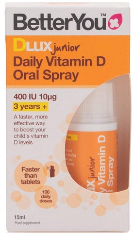 BetterYou DLux Junior Daily Vitamin D Oral Spray - 15 ml.