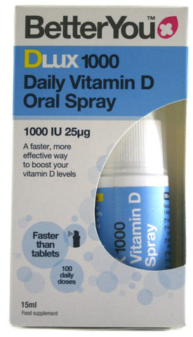BetterYou DLux 1000 Daily Vitamin D Oral Spray - 15 ml.